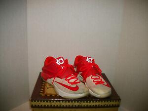 dc923f9edf5b Nike KD VII Xmas Egg Nog Crimson Ivory Basketball Shoes 707560-613 ...