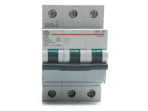 4 Stück General Electric EP63 Elfa AEG Leitungsschutzschalter 3P 16A 230//400V