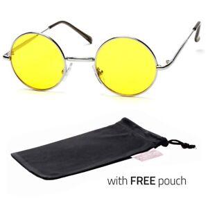 e4fb2ef0762 Details about John Lennon Sty Vintage Classic Circle Round Sunglasses Men  Women Color YELLOW P