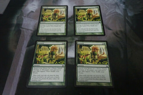 EX Condition MTG Ravnica 4 x Farseek