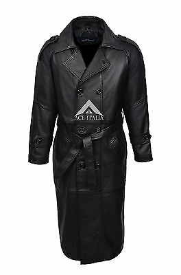Peter Black Stylish Nappa Sheep Italian Lambskin Leather Mid Length Blazer Coat