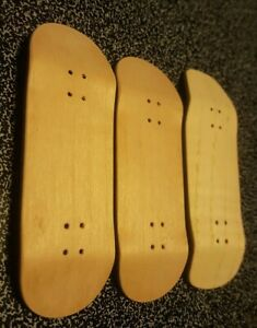 LOT of THREE Blank DIY Wood  Fingerboards fits Flatface Blackriver Dynamic