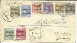 Great Britain OFFICE IN MOROCCO-GIBRALTAR ISSUES-SG#1-8(20c-FLAT TOP & 2p