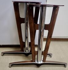 Chrome Amp Wood Mcm Industrial Modern Conference Table Legs With Mounting Platform