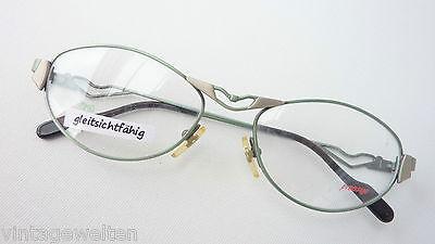 Leale Occhiali Montatura Prestige Metallizzato Verde Dettaglio Reich Lunettes Senza Tempo Da Donna Size M-mostra Il Titolo Originale