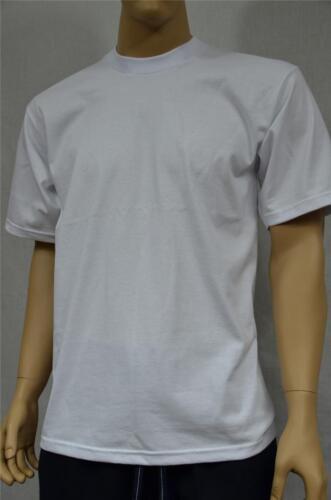 2 NEW PROCLUB MEDIUM HEAVY WEIGHT T-SHIRTS WHITE PLAIN TEE PRO CLUB BLANK 2PC
