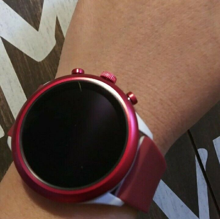Fossil Sport Heart Rate Red White Silicone Men's Smartwatch FTW4033J 43mm