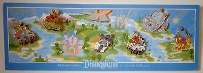 100% Wahr Disney Alle Roads Lead To Happiest Homecoming On Earth Gwp Pin 7 Pins + Karte