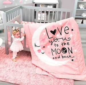 Moon And Stars Baby Girls Crib Bedding Nursery For Baby