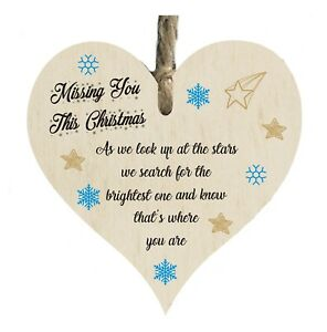 Details about Missing You At Christmas Quote Wooden Novelty Plaque Sign  Gift htc5