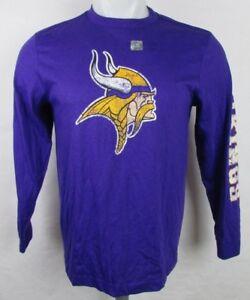 a4ea581a9b Minnesota Vikings Youth Boys Distressed Team Logo LS T-Shirt Purple ...