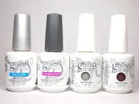 Harmony Gelish French Manicure Kit Soak Off Nail Polish Gel Top Base Coat Color