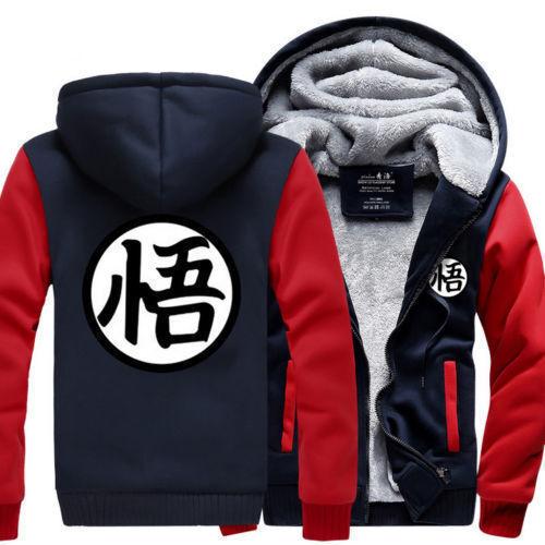 Dragon Ball Goku Clothing Men/'s Thicken Jacket Coat Cosplay Sweater Hoodie Anime