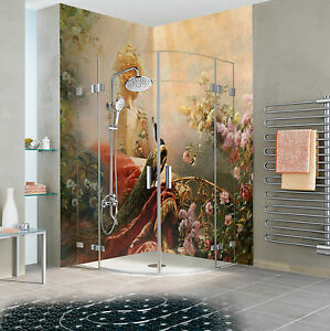 Details zu 3D Der PFAU 52 Tapete Badezimmer Drucken Abziehbild Mauer Deco  AJ WALLPAPER DE