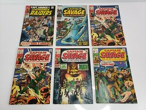 Vintage-Marvel-Comics-Captain-Savage-Comics-Lot-Of-6-1968-1970-USA