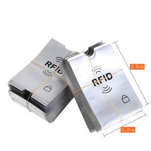 20 x RFID Card Sleeve Contactless Wallet Protector Debit Credit Blocking