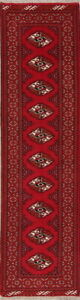Geometric-Balouch-Bokhara-Afghan-Oriental-Runner-Rug-Wool-Hand-Knotted-3-039-x10-039