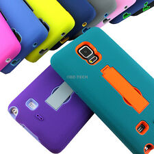 For Samsung Galaxy Note 4 Shockproof Rugged Impact Hybrid Hard Case Kickstand