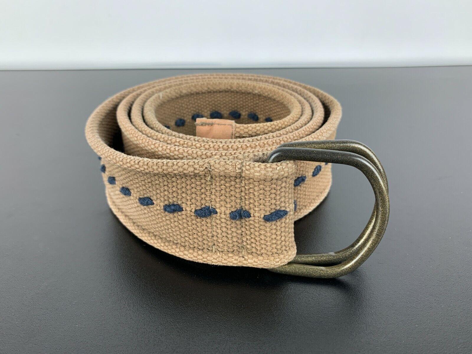 Leichter Stoff Flechtgürtel Geflochtener Braided Plaited Fabric Belt Braun 110