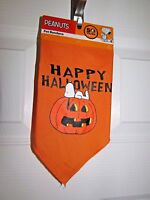 Peanuts Snoopy Happy Halloween Pet Bandana Bright Orange Velcro Closure