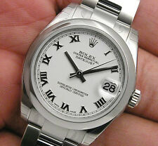 Rolex DATEJUST 178240 Midsize Stainless Steel Oyster White Roman Dial 31MM