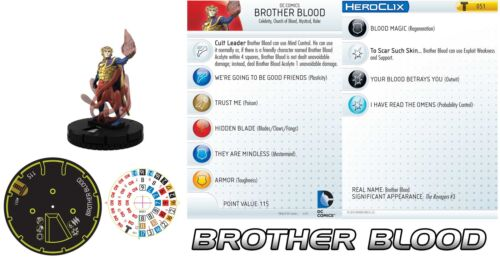 BROTHER BLOOD #051 Teen Titans DC HeroClix SUPER RARE