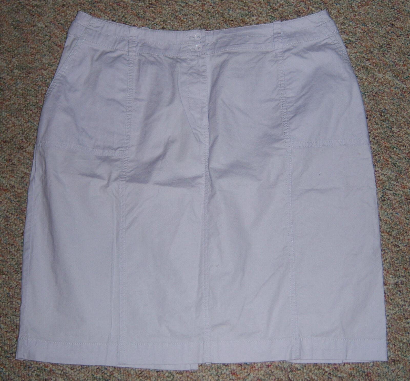 TALBOTS purplec color Below Knee Lightweight Casual Skirt 14 Woman Petite or 14WP