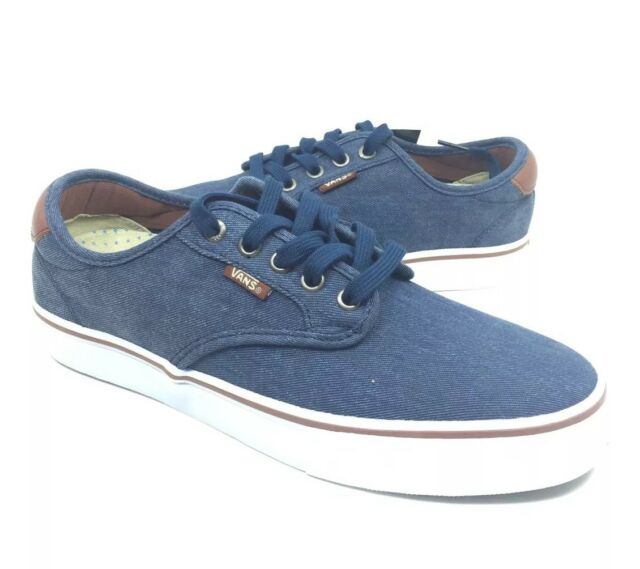 ade7b0be755967 NEW Vans Chima Ferguson Pro Twill Navy Blue Brown Men s Shoes Sneakers Size  7.5