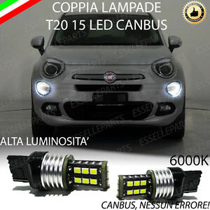 Coppia luci diurne drl 15 led t20 canbus fiat 500x my2017 for Luci diurne a led