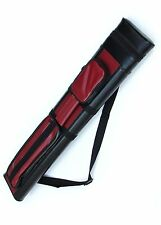 Red Black 2X2 Hard Tube Pool Cue - Billiard Stick Carrying  Case  2 X 2