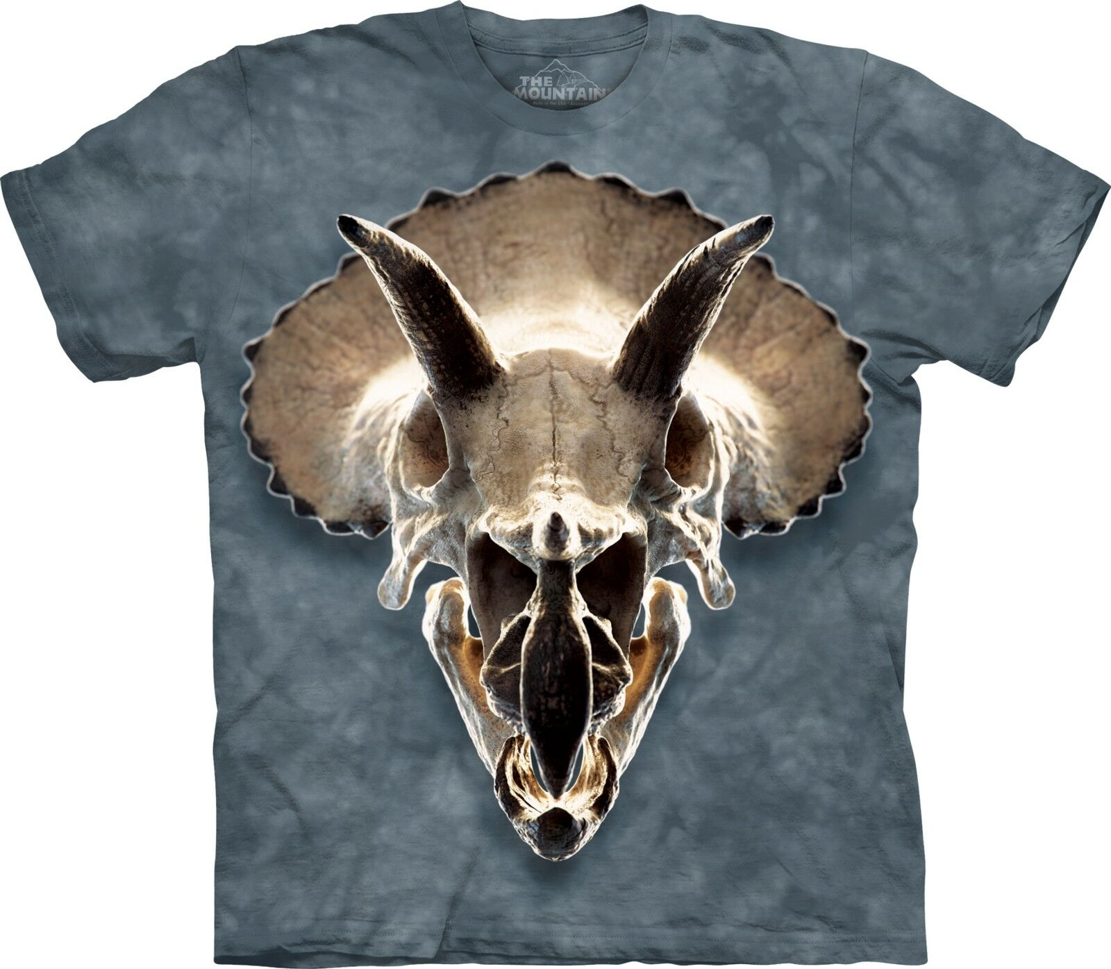 The Mountain Unisex Adult Triceratops Skull Dinosaur T Shirt