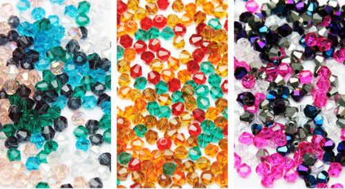Mix Bicone glasslperlen rodé perles 4mm 100st Automne Couleurs Mixer Mélange
