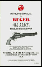 Ruger Old Army .457 Percussion Revolver Instruction Manual