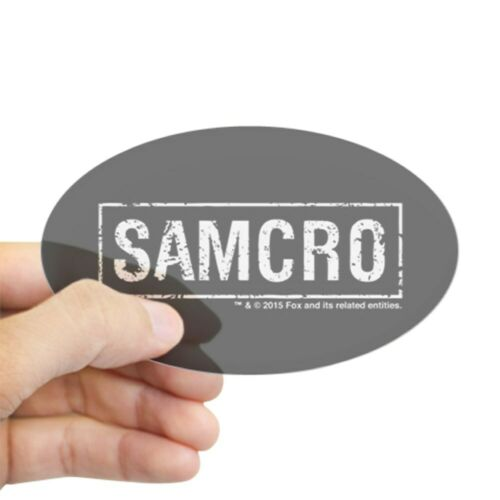 Euro Oval Car Decal 1941555119 CafePress SAMCRO Oval Bumper Sticker