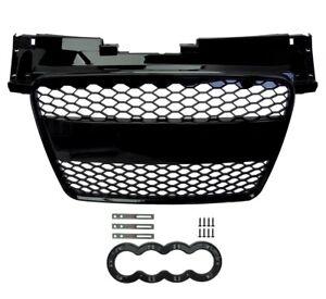 Rejilla-de-conversion-delantero-negro-brillante-estilo-RS-Audi-TT-8J-2008-14-De-Malla-De-Nido-De