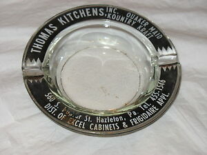 Vintage-Advertising-Ashtray-Thomas-Kitchens-Hazelton-PA-Quaker-Maid-K-K-Kitchen