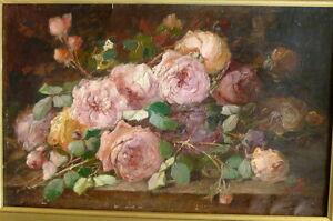 jetee-de-Roses-par-Andre-Perrachon-1827-1909-ecole-lyonnaise