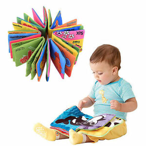 Intelligence-Developmental-Baby-Kids-Toys-Bed-Cloth-Cognize-Book-Educational-Toy