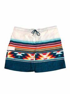 "Quick Dry No Interior Liner 5.5"" Aztec Swim Shorts Size: X-Large"