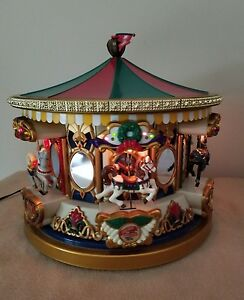 Mr Christmas Carousel.Details About 1994 Mr Christmas Animated Musical Holiday Merry Go Round Carousel 21 Carols