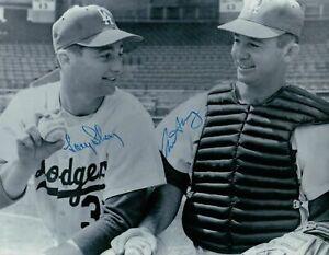 Larry-amp-Norm-Sherry-Dual-Signed-8X10-Photo-Autograph-Dodgers-Thin-Auto-w-COA