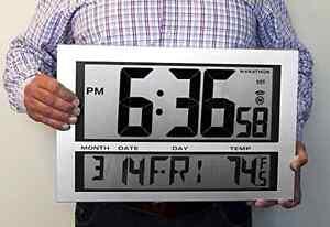 Digital Wall Mount Clock Large Time Modern Watch Battery