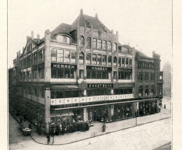 Modehaus Zeyn Hannover Reklame von 1924 Werbung Kleidung Stadt Provinz Mode Ad