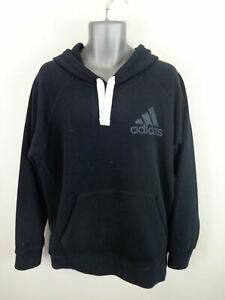MENS-ADIDAS-SPORT-BLACK-LONG-SLEEVED-CASUAL-HOODED-JUMPER-HOODIE-SIZE-XL-XLARGE