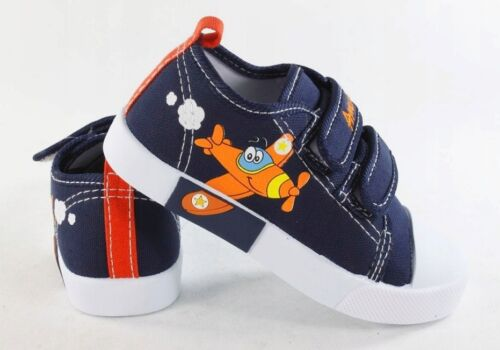 AMERICAN CLUB BOYS Canvas shoes trainers BABY BOY Real leather insoles 4-8 UK