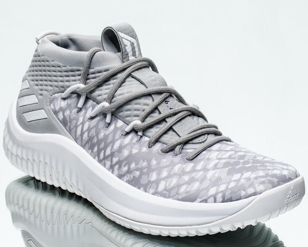 Adidas Dame Lillard 4 Start to Finish men shoes new footwear white grey BY4495