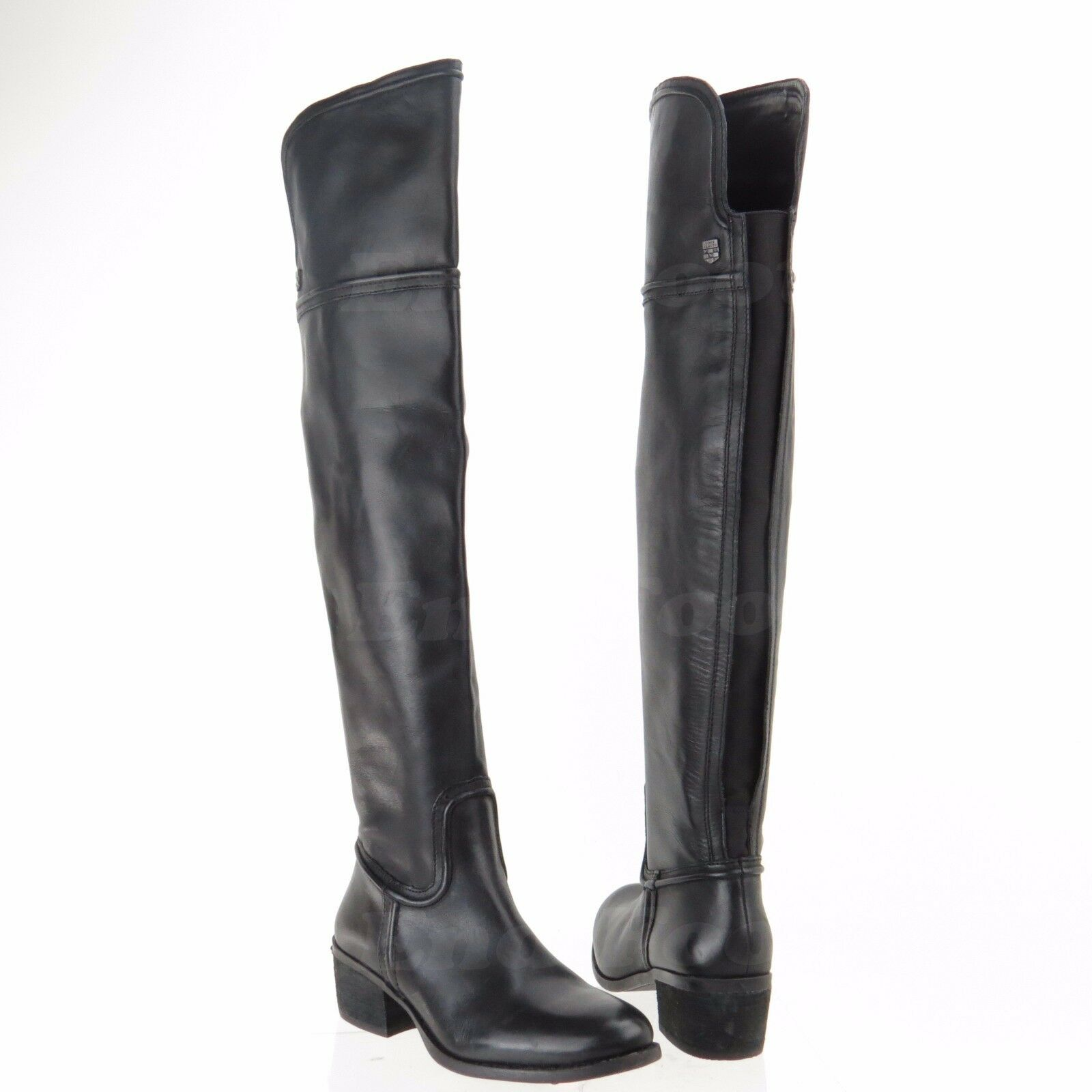 Vince Camuto Baldwin Women's Black Leather Tall Over the Knee Boots Sz 6 M NEW