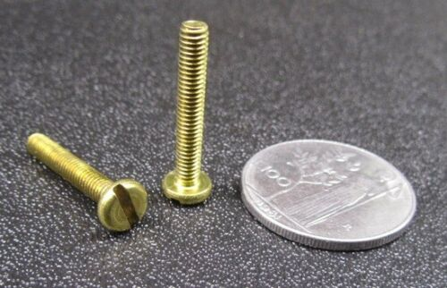 20 pc Brass Pan Head Machine Screw Slotted M4 x 0.7 x 25 mm Length