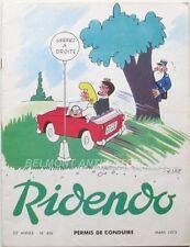 Ridendo n°406 - 1973 - Permis de Conduire - Lep - Revue gaie pour le Médecin