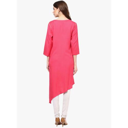 Indian Bollywood Rayon Kurta Kurti Women Ethnic Dress Top Tunic Pakistani